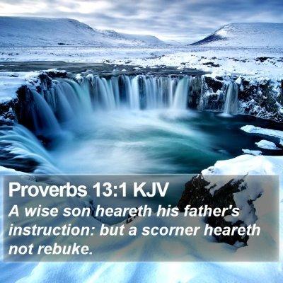 Proverbs 13:1 KJV Bible Verse Image