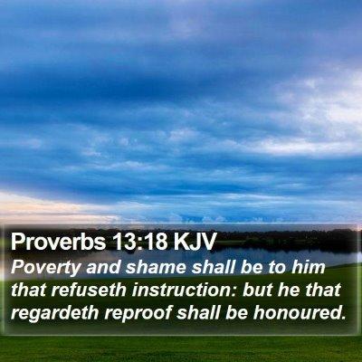 Proverbs 13:18 KJV Bible Verse Image