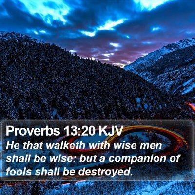 Proverbs 13:20 KJV Bible Verse Image