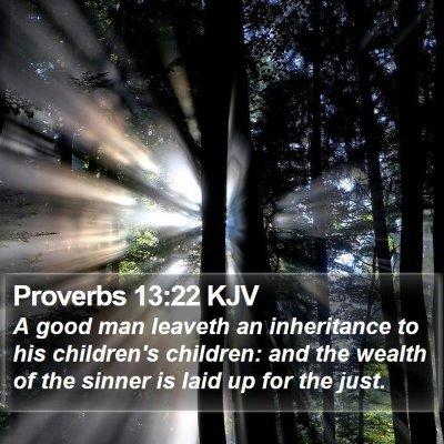 Proverbs 13:22 KJV Bible Verse Image