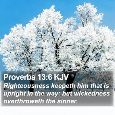 Proverbs 13:6 KJV Bible Verse Image