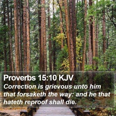 Proverbs 15:10 KJV Bible Verse Image
