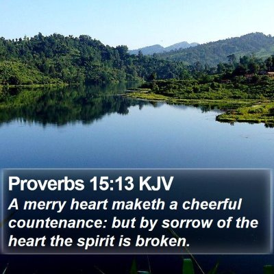 Proverbs 15:13 KJV Bible Verse Image