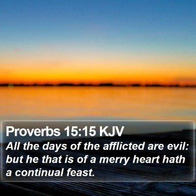 Proverbs 15:15 KJV Bible Verse Image