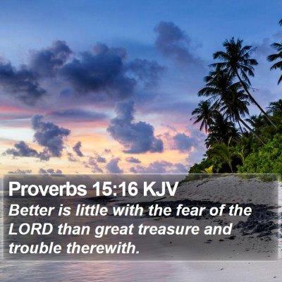 Proverbs 15:16 KJV Bible Verse Image