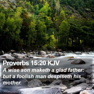 Proverbs 15:20 KJV Bible Verse Image