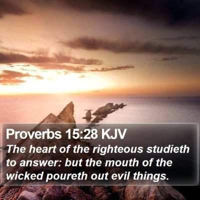 Proverbs 15:28 KJV Bible Verse Image