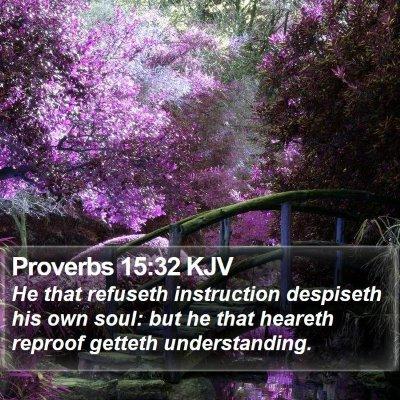 Proverbs 15:32 KJV Bible Verse Image