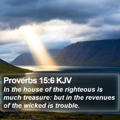 Proverbs 15:6 KJV Bible Verse Image