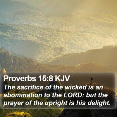 Proverbs 15:8 KJV Bible Verse Image