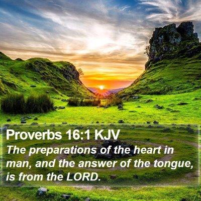 Proverbs 16:1 KJV Bible Verse Image