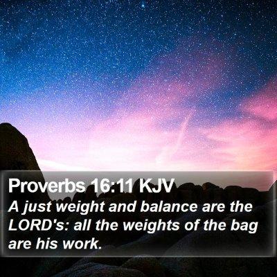 Proverbs 16:11 KJV Bible Verse Image