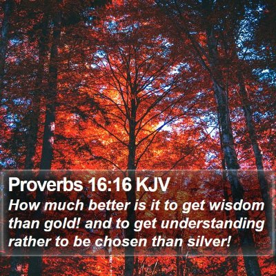 Proverbs 16:16 KJV Bible Verse Image