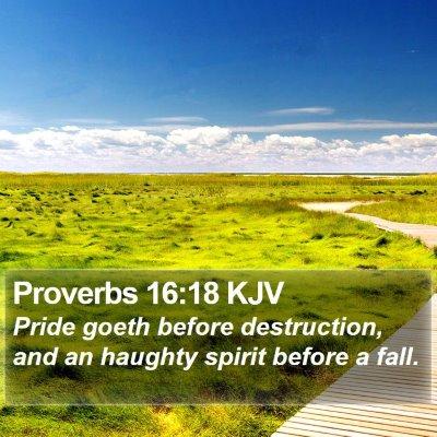 Proverbs 16:18 KJV Bible Verse Image
