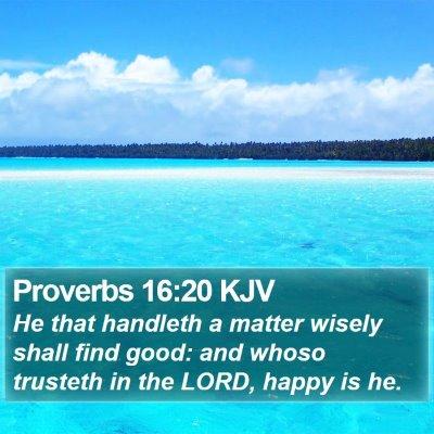 Proverbs 16:20 KJV Bible Verse Image