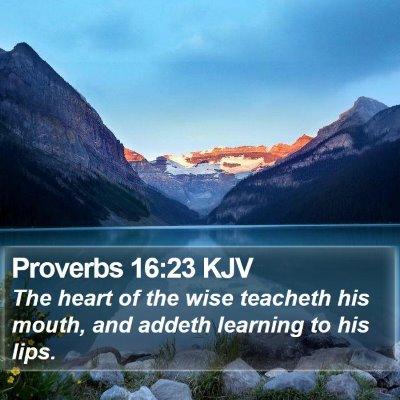 Proverbs 16:23 KJV Bible Verse Image