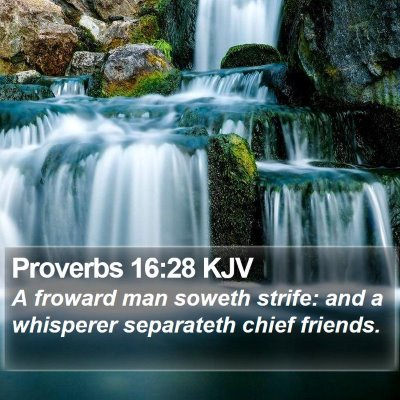 Proverbs 16:28 KJV Bible Verse Image