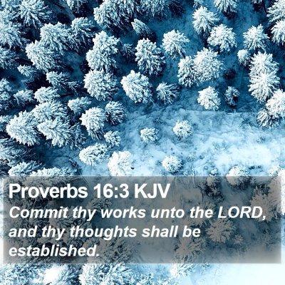 Proverbs 16:3 KJV Bible Verse Image