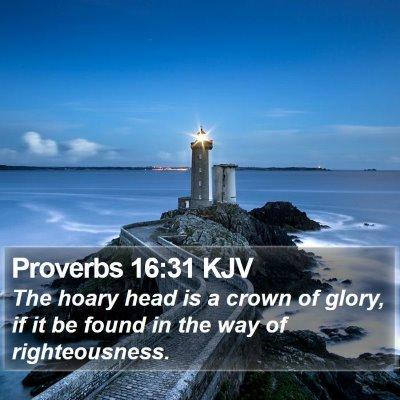 Proverbs 16:31 KJV Bible Verse Image