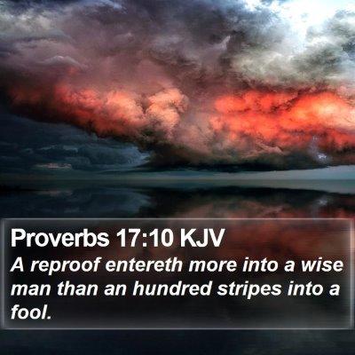 Proverbs 17:10 KJV Bible Verse Image
