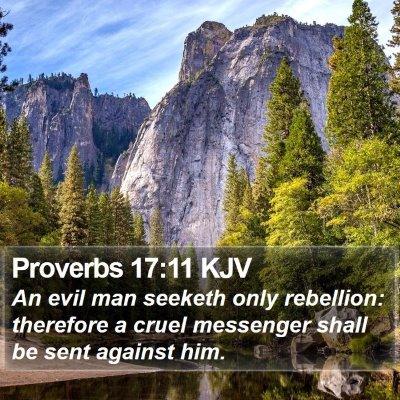 Proverbs 17:11 KJV Bible Verse Image