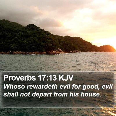 Proverbs 17:13 KJV Bible Verse Image