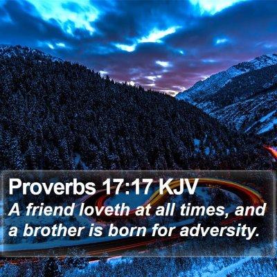 Proverbs 17:17 KJV Bible Verse Image