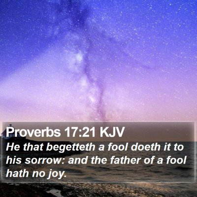 Proverbs 17:21 KJV Bible Verse Image