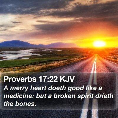Proverbs 17:22 KJV Bible Verse Image
