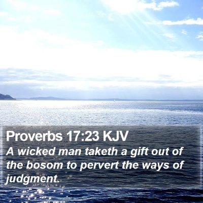 Proverbs 17:23 KJV Bible Verse Image