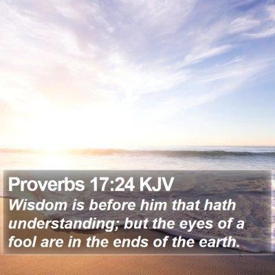 Proverbs 17:24 KJV Bible Verse Image