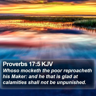 Proverbs 17:5 KJV Bible Verse Image
