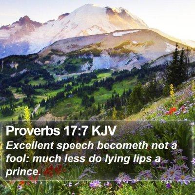 Proverbs 17:7 KJV Bible Verse Image