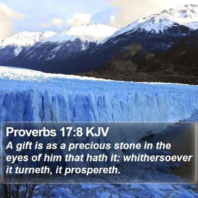Proverbs 17:8 KJV Bible Verse Image