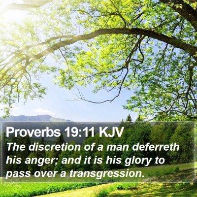 Proverbs 19:11 KJV Bible Verse Image
