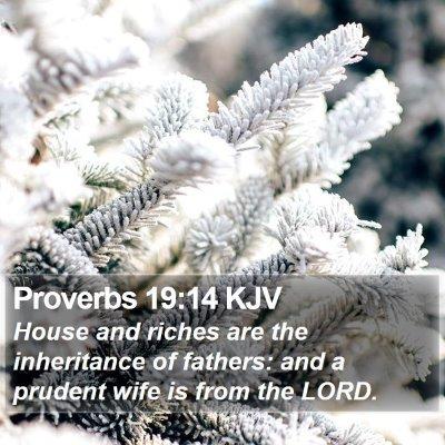 Proverbs 19:14 KJV Bible Verse Image