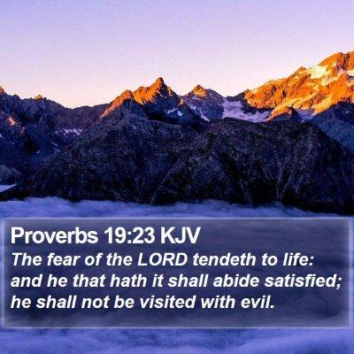 Proverbs 19:23 KJV Bible Verse Image