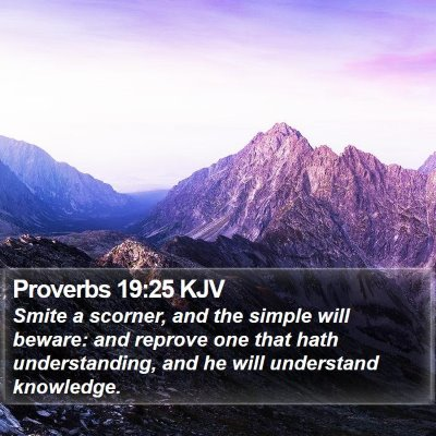 Proverbs 19:25 KJV Bible Verse Image
