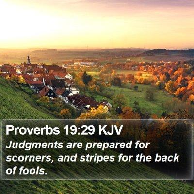 Proverbs 19:29 KJV Bible Verse Image