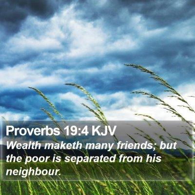 Proverbs 19:4 KJV Bible Verse Image