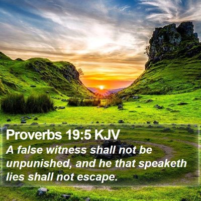 Proverbs 19:5 KJV Bible Verse Image