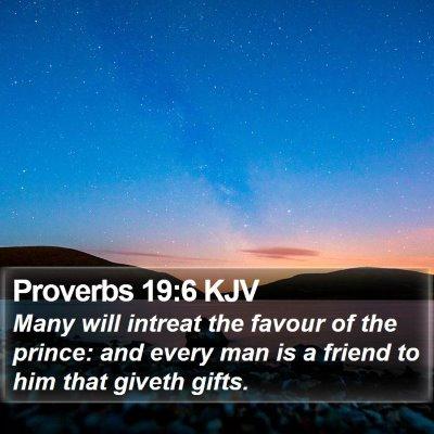 Proverbs 19:6 KJV Bible Verse Image