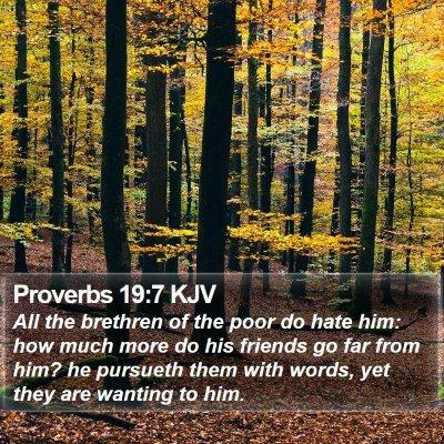 Proverbs 19:7 KJV Bible Verse Image
