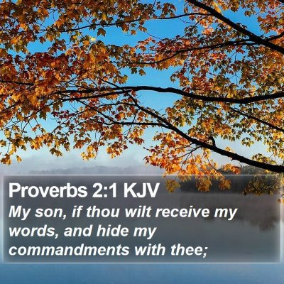 Proverbs 2:1 KJV Bible Verse Image