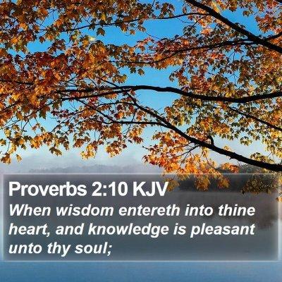 Proverbs 2:10 KJV Bible Verse Image