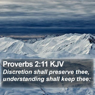 Proverbs 2:11 KJV Bible Verse Image