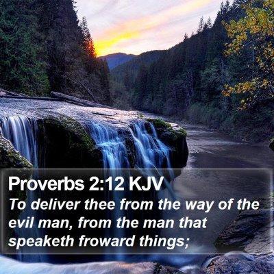 Proverbs 2:12 KJV Bible Verse Image