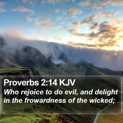 Proverbs 2:14 KJV Bible Verse Image