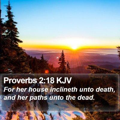 Proverbs 2:18 KJV Bible Verse Image
