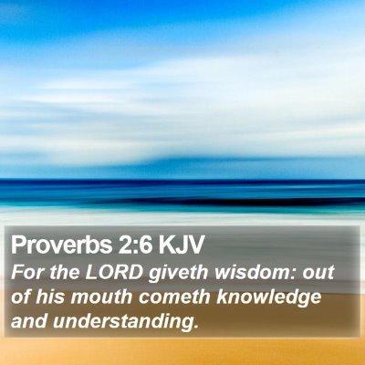 Proverbs 2:6 KJV Bible Verse Image